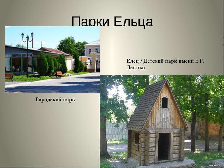 Парки Ельца Городской парк Елец / Детский парк имени Б.Г. Лесюка.