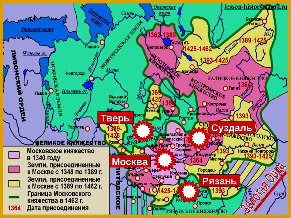 Суздаль Рязань Москва Тверь