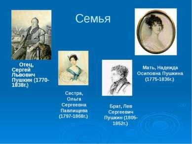 Семья Отец, Сергей Львович Пушкин (1770-1838г.)