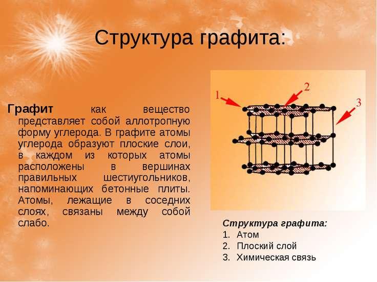 Структура графита: Графит как вещество представляет собой аллотропную форму у...