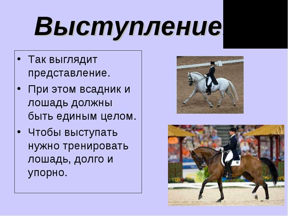 Так выглядит представление. При этом всадник и лошадь должны быть единым цело...