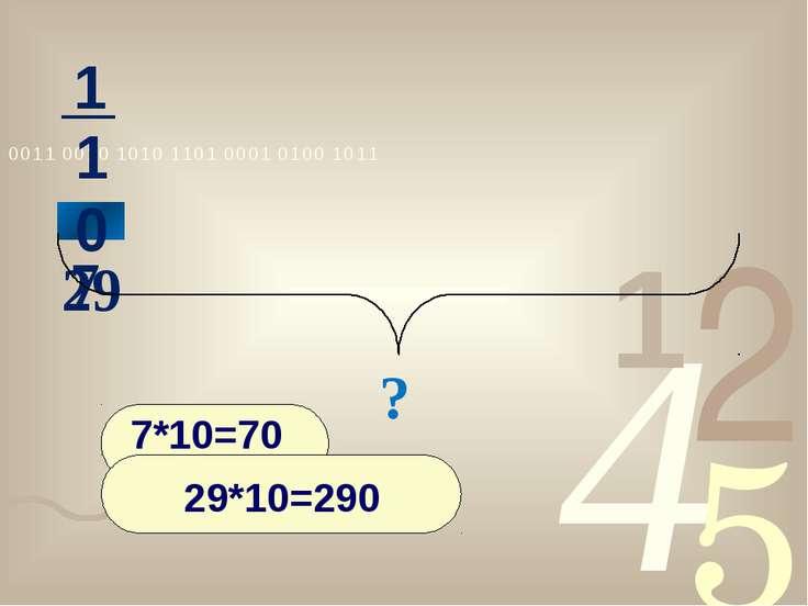 7 29 ? нахождение числа по его дроби 1 10 7*10=70 29*10=290