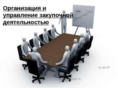 Гр.М-07-2 Косьяненко К. Организация и управление закупочной деятельностью