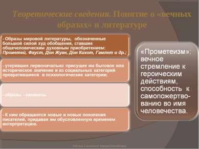 Теоретические сведения. Понятие о «вечных образах» в литературе Учитель Сотни...