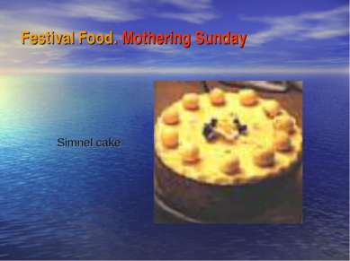 Festival Food. Mothering Sunday Simnel cake