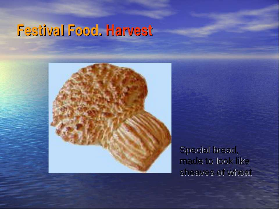 Festival Food. Harvest Special bread, made to look like sheaves of wheat
