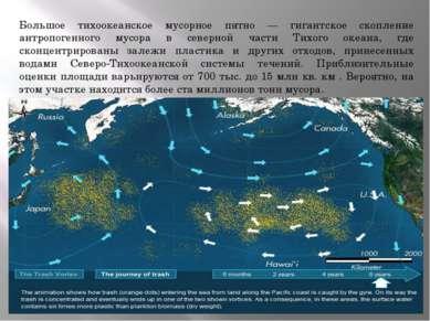 Большое тихоокеанское мусорное пятно — гигантское скопление антропогенного му...