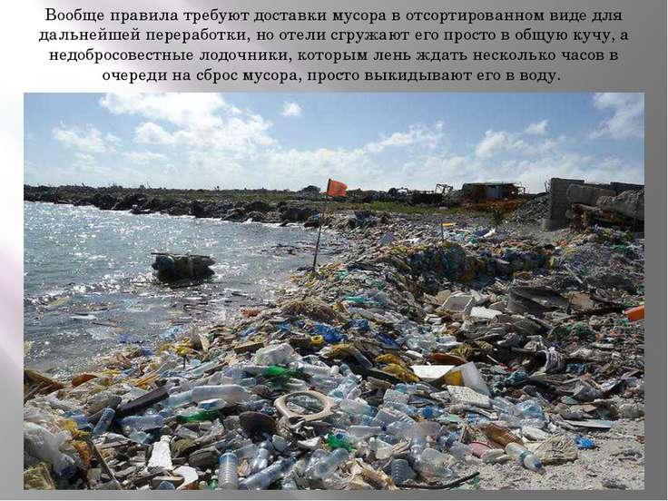 Вообще правила требуют доставки мусора в отсортированном виде для дальнейшей ...