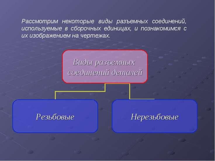 Рассмотрим некоторые виды разъемных соединений, используемые в сборочных един...