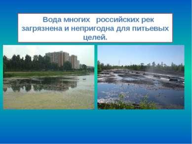 Вода многих российских рек загрязнена и непригодна для питьевых целей.
