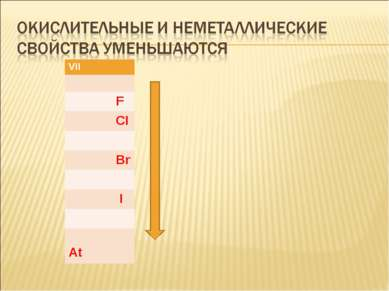 VII F CI Br I At