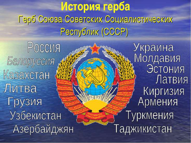 История герба Герб Союза Советских Социалистических Республик (СССР)