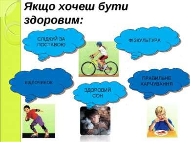 Якщо хочеш бути здоровим: СЛІДКУЙ ЗА ПОСТАВОЮ ФІЗКУЛЬТУРА ВІДПОЧИНОК ЗДОРОВИЙ...