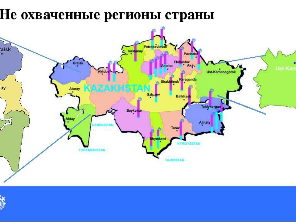 36 Не охваченные регионы страны