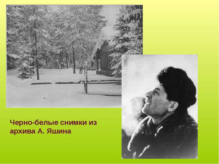 Черно-белые снимки из архива А. Яшина
