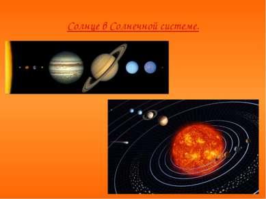 Солнце в Солнечной системе.