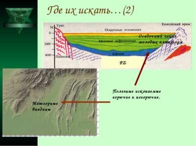 Где их искать…(2) РZ Осадочный чехол молодых платформ Межгорные впадины Полез...