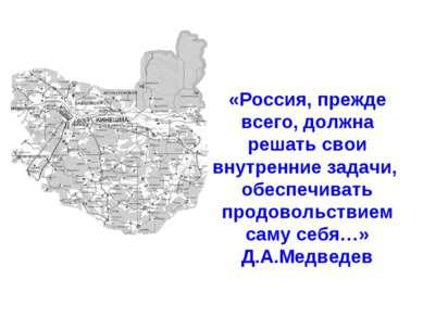 «Россия, прежде всего, должна решать свои внутренние задачи, обеспечивать про...
