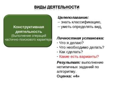 Целеполагание: знать классификацию, уметь определять вид, Личностная установк...