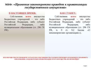 МИФ: «Принятие законопроекта приведет к приватизации государственного имущест...