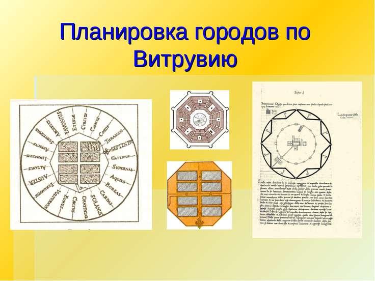 Планировка городов по Витрувию