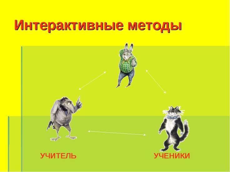Интерактивные методы УЧИТЕЛЬ УЧЕНИКИ