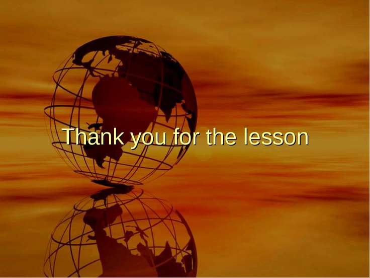 Thank you for the lesson