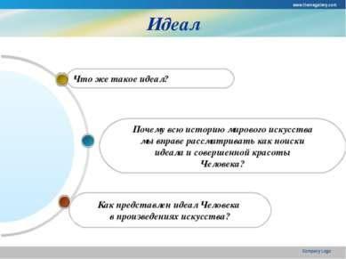 www.themegallery.com Company Logo Идеал Как представлен идеал Человека в прои...