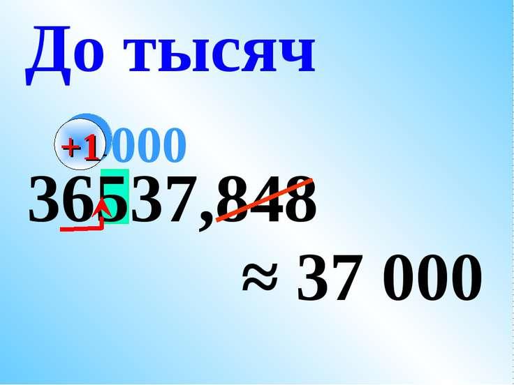 36537,848 ≈ 37 000 До тысяч 000 +1