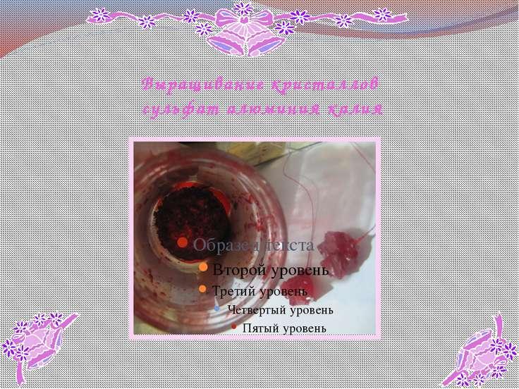 Выращивание кристаллов сульфат алюминия калия