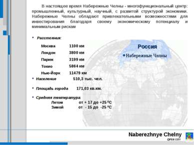 Naberezhnye Chelny OPEN CITY В настоящее время Набережные Челны - многофункци...