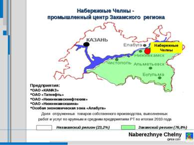 Набережные Челны - промышленный центр Закамского региона Предприятия: ОАО «КА...