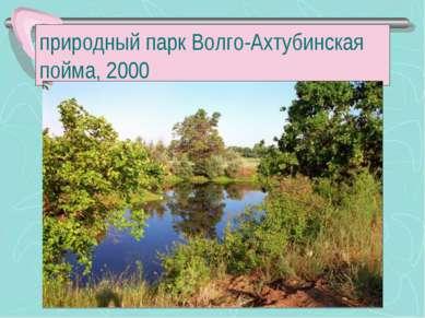 природный парк Волго-Ахтубинская пойма, 2000