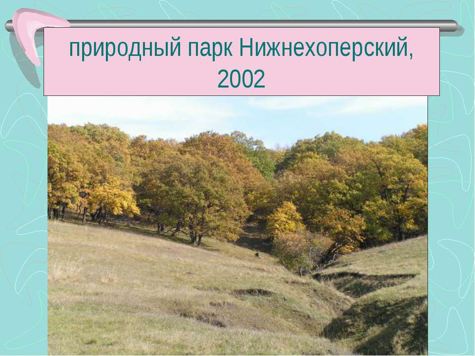 природный парк Нижнехоперский, 2002
