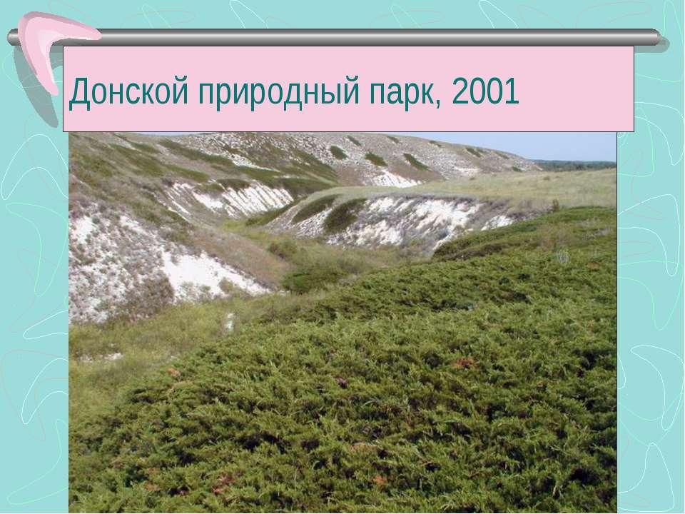 Донской природный парк, 2001