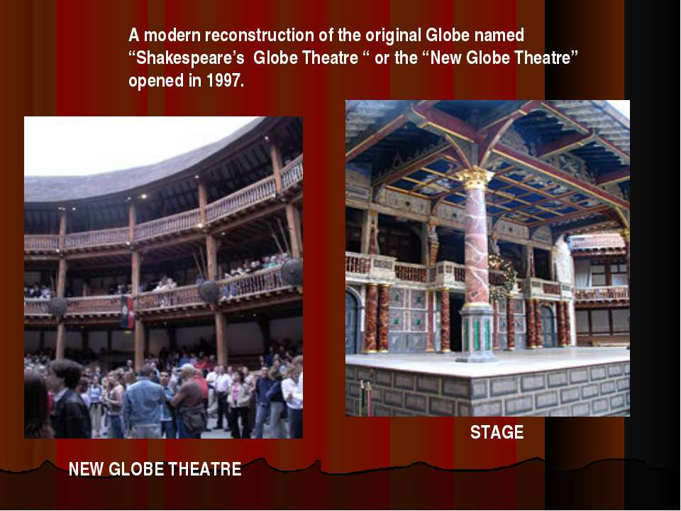 """A modern reconstruction of the original Globe named """"Shakespeare's Globe Thea..."""