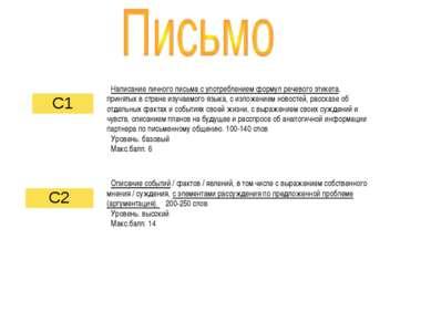 Написание личного письма с употреблением формул речевого этикета, принятых в ...