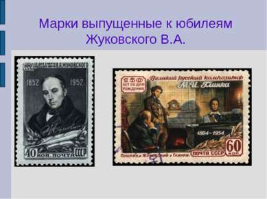 Марки выпущенные к юбилеям Жуковского В.А.