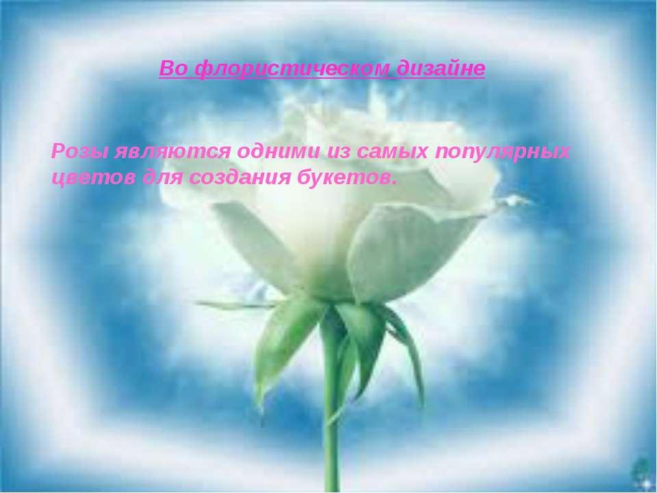 Во флористическом дизайне Розы являются одними из самых популярных цветов для...