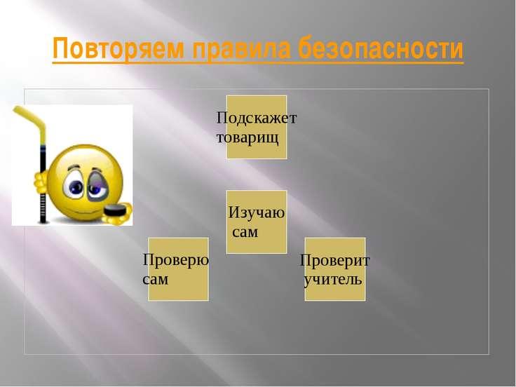 Повторяем правила безопасности автор Рогожин М.В. МКОУ Среднецарицынская СОШ