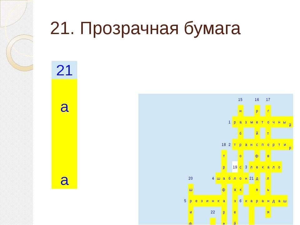 21. Прозрачная бумага 15 16 17 н р г 1 р а з м е т о ч н ы й б й т 18 2 т р а...