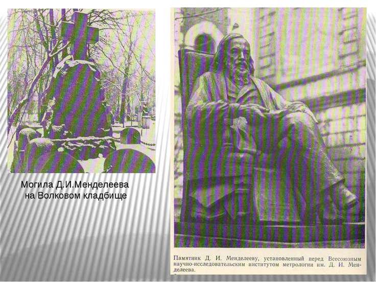 Могила Д.И.Менделеева на Волковом кладбище