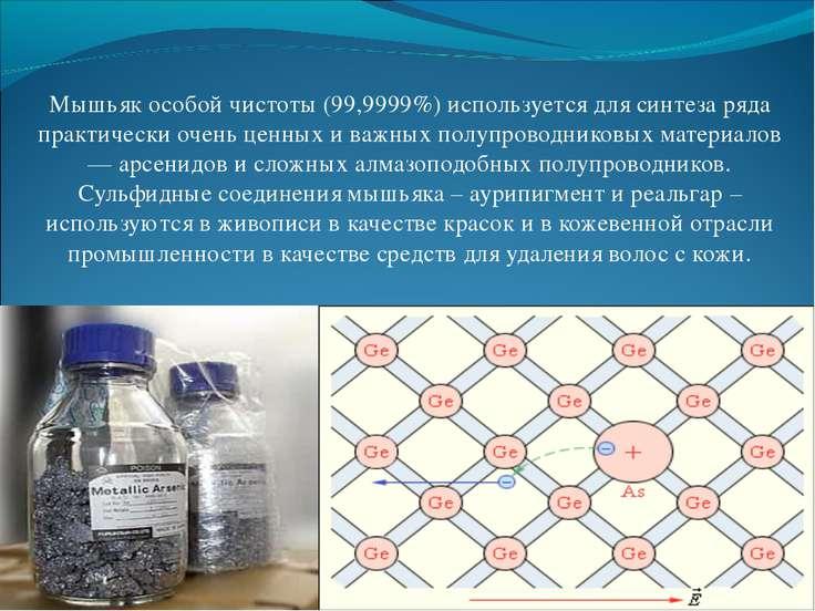 Мышьяк особой чистоты (99,9999%) используется для синтеза ряда практически оч...
