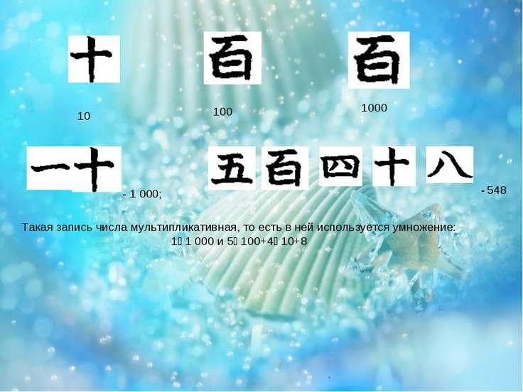 10 100 1000 - 1000; - 548 Такая запись числа мультипликативная, то есть в не...