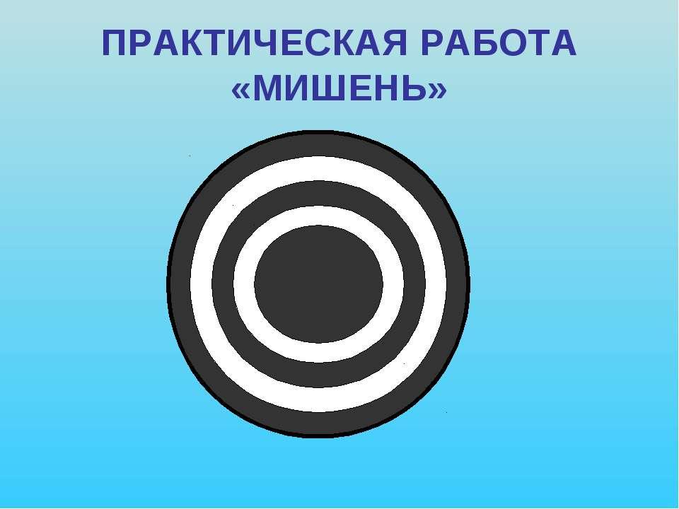 ПРАКТИЧЕСКАЯ РАБОТА «МИШЕНЬ»