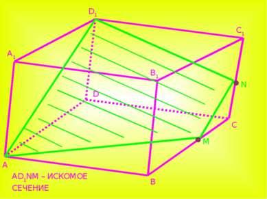 A A1 B B1 C C1 D1 D N M AD1NM – ИСКОМОЕ СЕЧЕНИЕ