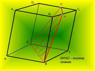 A A1 B B1 C C1 D D1 N M BMND – искомое сечение