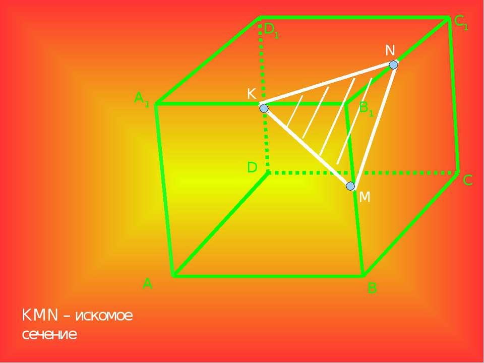 A1 A D1 D B B1 C1 C K M N KMN – искомое сечение