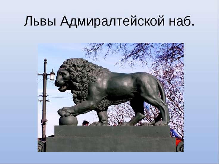 Львы Адмиралтейской наб.