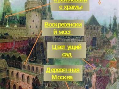 Арсенальная башня Кутафья башня Кремлёвские храмы Воскресенский мост Цветущий...